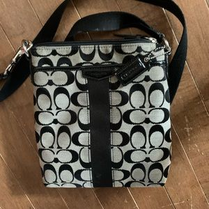 Coach flat crossbody canvas purse